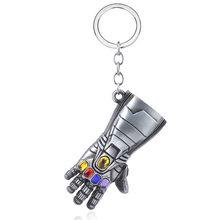 Avengers 4 Thor Axe Búa Móc Khóa Marvel Găng Tay Sắt Nam Llaveros Thiết Bị Tìm Chìa Khóa Người Sắt Móc Khóa Phụ Kiện Trang Sức(China)