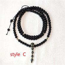 Mcllroy pedra natural colar para mulher/homem retro lava grânulo longo colar crânio/viking pingentes colares moda jóias 2019(China)