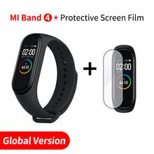 Asli Xiao Mi Mi Band 4 Smart Gelang Mi Band 4 Smart Band Kebugaran Traker Warna Layar AMOLED Bluetooth 5.0 olahraga Tahan Air(China)