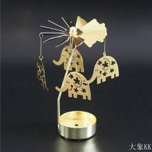 ללכת סיבוב חתול פמוט מסתובב רומנטי ספין קרוסלת תה אור נר מחזיק חג המולד עץ ארוחת ערב לאור נרות בית תפאורה(China)