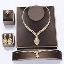Schmuck Set HADIYANA Hochzeit Geschenk Ohrringe Halskette Armband Ring Sets Luxus Elegante Frauen Schmuck CN1108 Accesorios Mujer(China)
