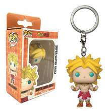 Funko POP Bolso Keychain Pop BEERUS Amina Dragon Ball GOKU VEGETA Super Saiyan GOTENKS Action Figure Brinquedos Modelo Gift Collection(China)