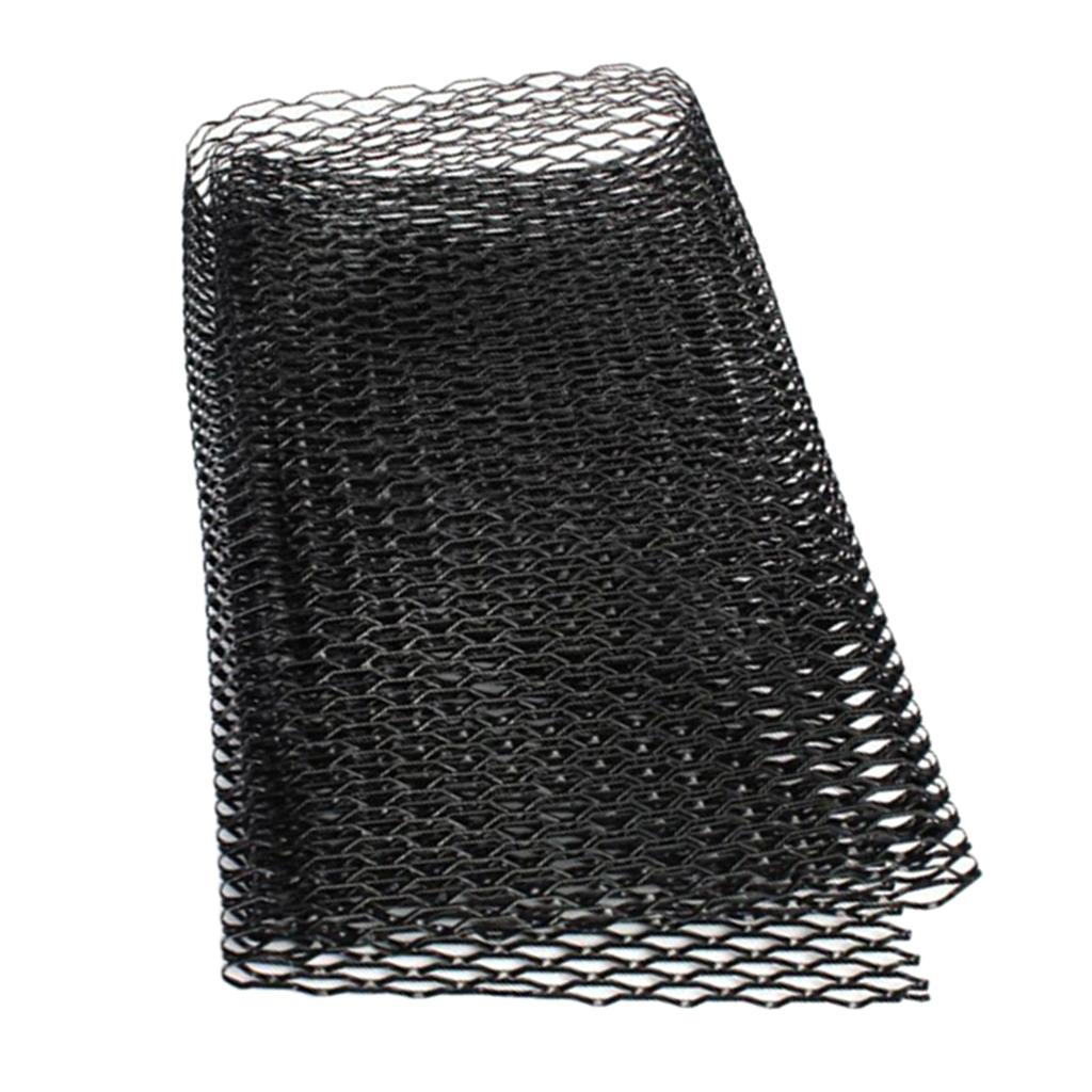 Car Front Bumper Grill Mesh Net Sheet Black Aluminum 10x20mm Rhombus Shape
