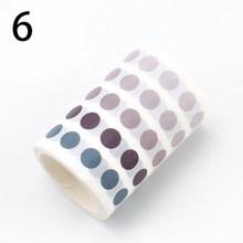 Linda bala diario Washi Tape Set Kawaii gradiente Dot Masking cintas para niños DIY diario decorativo Scrapbooking foto Ablums(China)