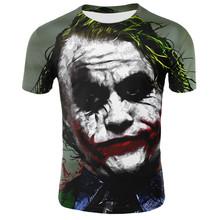 Sommer Clown 3D T Hemd Männer Joker Gesicht T hemd Casual Kurzarm Hip Hop Tops T Street Lustige Joker 3D Gedruckt T shirts(China)