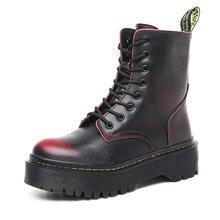 Kadın botları platformu hakiki deri çizmeler Dr sonbahar kış ayakkabı kadın ayak bileği Martin çizmeler rahat topuklu Botas Mujer(China)