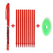 Стираемая ручка, 12 шт./компл., 0,5 мм, запасная моющаяся ручка, стержень с синими/черными/красными чернилами, гелевая ручка для школы, офиса, кан...(China)