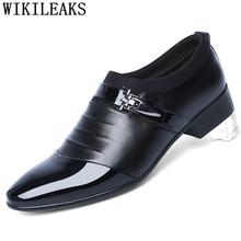 Открытые оксфорды; Официальная обувь; Мужские кожаные свадебные туфли; Цвет Черный; Heren Schoenen; Оксфорды для мужчин; Модельные туфли; Лоферы 2020 ...(China)