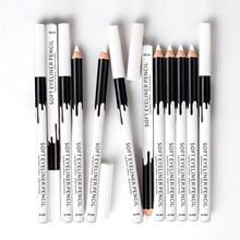 Preto e marrom e branco lápis delineador à prova dwaterproof água durável delineador caneta maquiagem dos olhos cosméticos moda olho cosméticos(China)