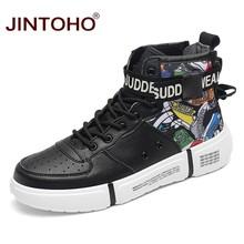 JINTOHO Fashion Winter Schoenen Voor Mannen Casual Winter Lederen Sneakers Winter Mannen Laarzen Lederen Mannelijke Laarzen Enkel Mannen Booties(China)