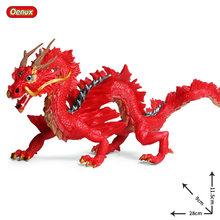 Oenux Genuína Originais Selvagem Voando Dragão Mágico Dinossauros Figuras de Ação Dragão Chinês Animais PVC Modelo Coleção Toy Kids(China)