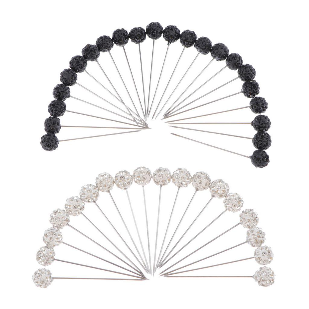 Set of 3 Wheels Long Black straight Muslim Hijab Pins Islamic Scarf =120 pins
