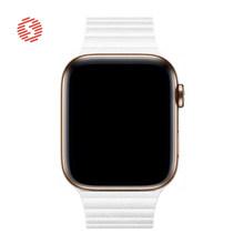 ShengOne עור לולאה להקת עבור אפל שעון סדרת 5 4 40MM 44MM עור מגנטי רצועת צמיד צמיד אפל 3 2 1 38MM 42MM(China)