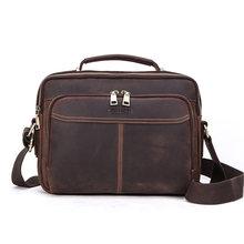 Contact's 100% genuíno couro crossbody sacos para homens casual negócios masculino saco do mensageiro marca de alta qualidade tote bolsas bolsas(China)