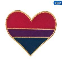 Rainbow Jantung Enamel Gay Pride Pin LGBT Pin Kesadaran Bros Jantung Perhiasan untuk Wanita(China)