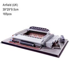 DIY 3D Головоломка мир футбольный стадион Европейская футбольная площадка сборная Строительная модель головоломка игрушки для детей GYH(China)