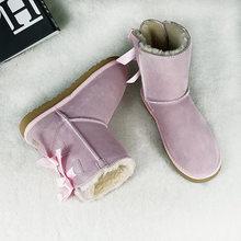 Chính Hãng Ủng Da Cá Nữ Mùa Đông Ấm Giày Thương Hiệu Nữ Phối Ren Nữ Giày Nữ Giày Giày De(China)