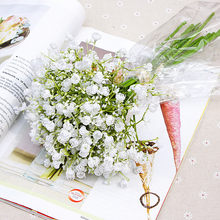 YO CHO Fake Wedding Flowers Bridal Bouquet Babysbreath Wedding Bouquet for Bridesmaid Artificial Flower Marriage Home Decoration(China)