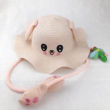 جديد الصيف قبعات للحماية من الشمس لطيف الكرتون الرقص آذان أرنب وسادة هوائية قبعة الاطفال صياد القش قبعة للأطفال الفتيان الفتيات(China)