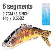 Donql 9.7cm 14g 낚시 미끼 wobblers 6 세그먼트 인공 크랭크 베이트 멀티 관절 하드 swimbait 살아있는 태클 미끼(China)