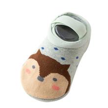 Детские носки; носки для младенцев; носки-тапочки для новорожденных; сезон осень-зима; противоскользящая обувь; носки с мягкой подошвой; теп...(China)