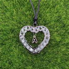 26 litery serce miłość A-Z Design Gun czarny naszyjnik wisiorek emalia regulowane liny mężczyzn walentynki kochanka prezent AG027-052(China)