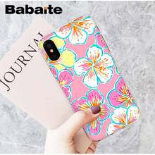 Babaite flores verano funda para teléfono pintada con bricolaje para iPhone 8 7 6 6S Plus X XS X MAX 5 5S SE XR 11 11PRO Pro max móvil(China)