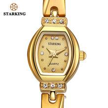 STARKING חדש לגמרי יוקרה נשים שעון מפורסם מותג זהב אופנה עיצוב צמיד שעונים גבירותיי נשים יד שעונים Damske Hodinky(China)