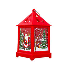 Pequeña casa de madera de Navidad con luces Minil colgante decoración adornos decoración del hogar Linda Mini lámpara colgante fiesta niños regalo(China)