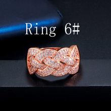 CWWZircons יוקרה גדול אפריקאי CZ צמיד צמידי טבעת סטי אופנה דובאי זהב כסף תכשיטי נשים מסיבת חתונה T373(China)
