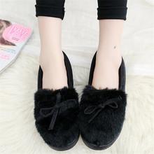 KARINLUNA yeni moda sıcak satış kız kış sıcak düz çizmeler bayan kürk yarım çizmeler kadın 2019 gündelik slip-on ayakkabılar kadın(China)