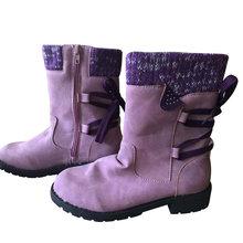 Mcckle 2020 Phụ Nữ Mùa Đông Giữa Bắp Chân Giày Đàn Mùa Đông Giày Thời Trang Nữ Ủng Giày Đùi Da Lộn Cao Cấp Ấm Áp botas Người Phụ Nữ(China)