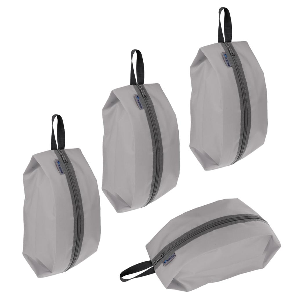 4pcs Portable Waterproof Shoe Organizer Zip Folding Pouch Travel Storage Bag