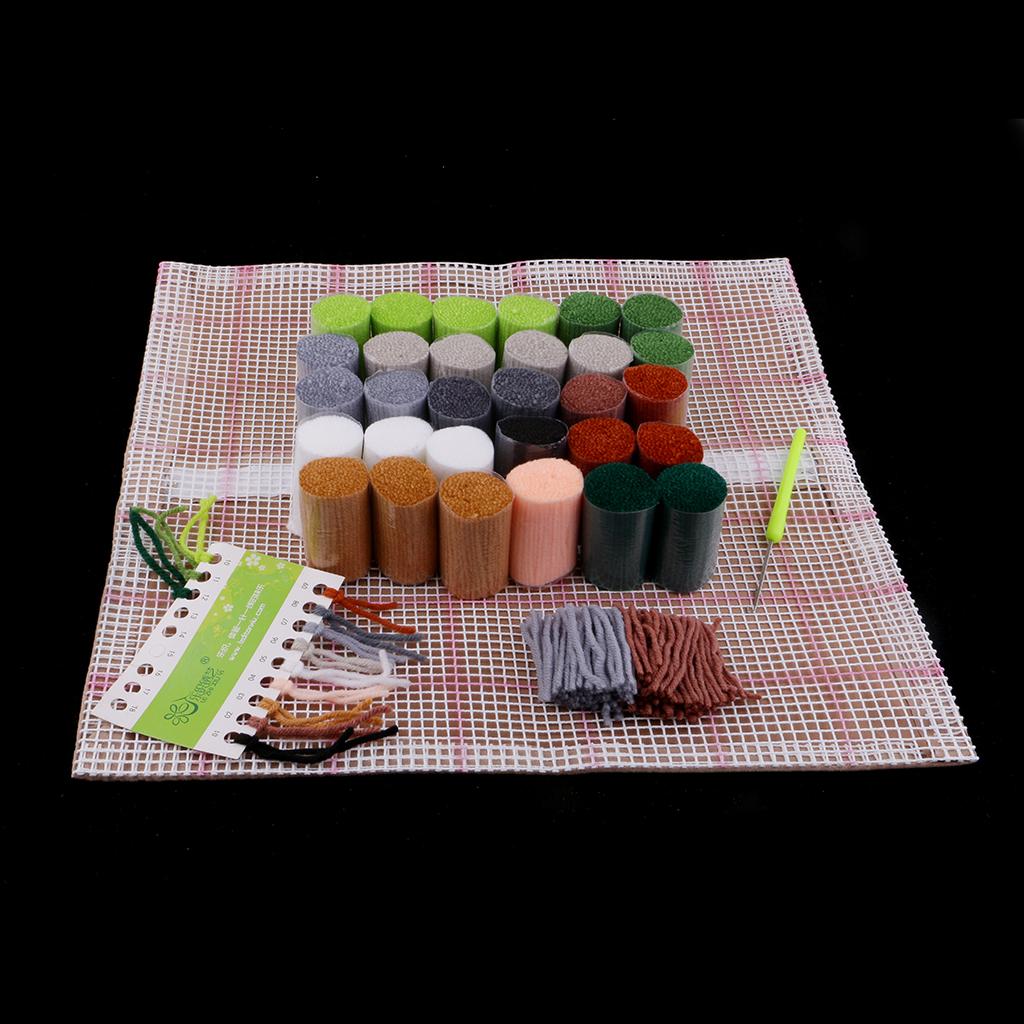 Animal Series Latch Hook Rug Kits Horse 3D Segment Embroidery Pillow Wool Cross Stitch Carpet Embroidery DIY Latch Hook Pillow