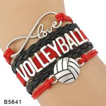Modna nieskończoność miłość siatkówka sport fanów prezent biżuteria Drop Shipping prezent na Boże Narodzenie męskie bransoletki dla kobiet(China)