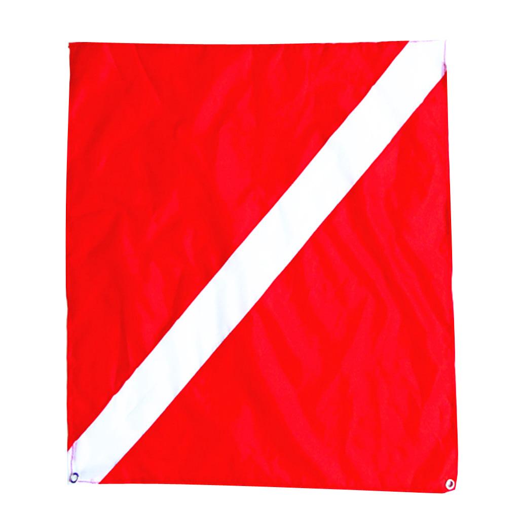 Diver Down Flag Scuba Flag Dive Equipment Maritime Signal Flag Boat ATV Spearfish 20x24''