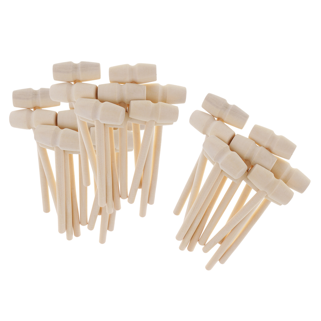 TOYMIS 18 Piezas Mini Martillo de Madera Cangrejo Mazos de Langosta Martillo de Marisco Martillo de Grieta Suministros para Manualidades