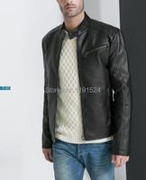 Мужские изделия из кожи и замши Oyher jaqueta couro masculina TM-19