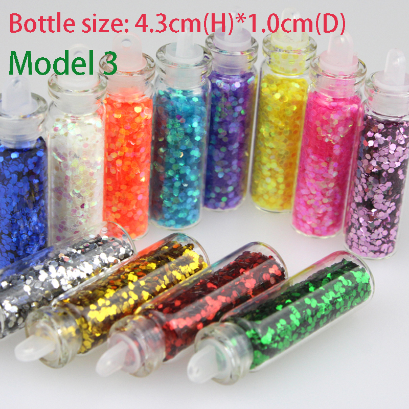 new 12 bottles mixed colors nail art glitter small hexagon paillette decoration nails beauty. Black Bedroom Furniture Sets. Home Design Ideas