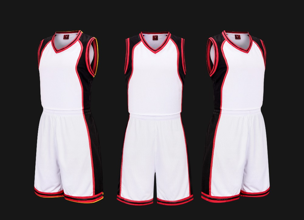2016 de calidad superior barato baloncesto uniforme rojo negro blanco de tres colores disponibles(China (Mainland))