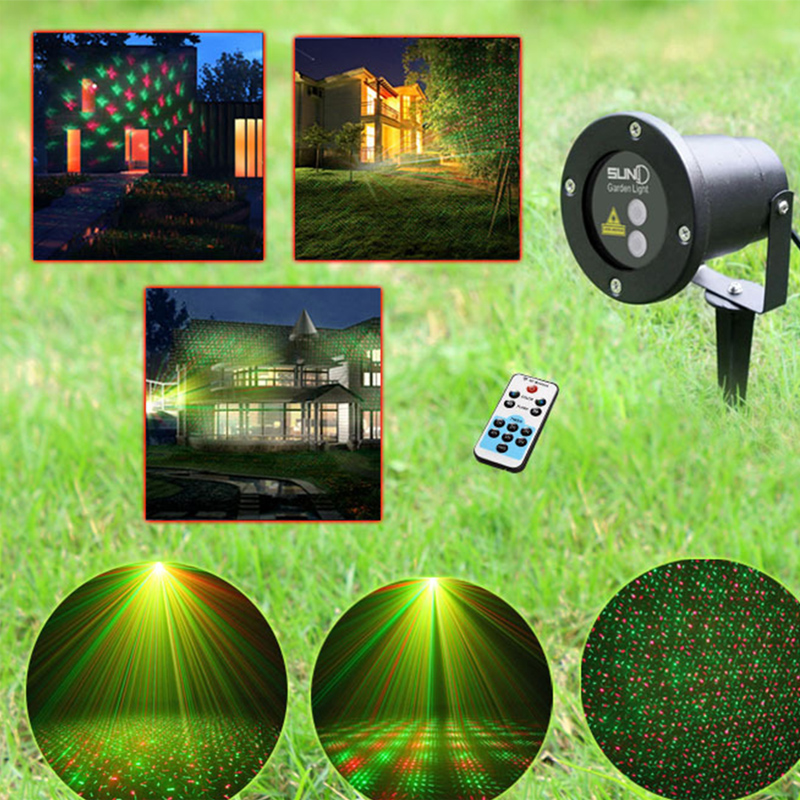2016 New High Quality Laser Lawn Lamp Outdoor Waterproof Plug Lights Christma