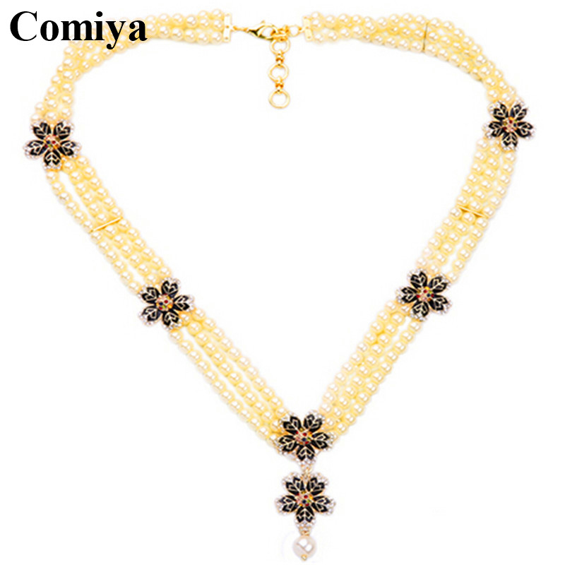 Pearl collane colar perola gift perfumes and fragrances for women perle multi layers good luck piece pendant necklaces jewelry(China (Mainland))