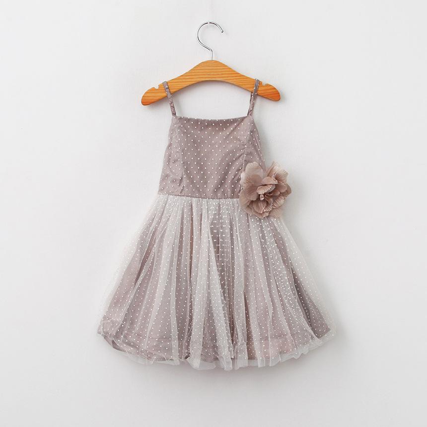 Wholesale 2016NEW fashion Girls bowknot Big flower dot Condole belt dress<br><br>Aliexpress