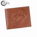 3D Scorpion Design Genuine Leather Men Wallet W016 Multi cards Short Male Purse 2016 Imprint Cardholder