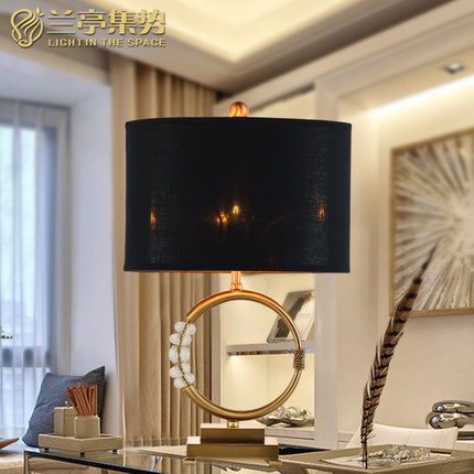 Modern Luxury Crystal Table Lamp Fabric Shape Crystal Decoration Security Support Bedroom Light Study Light Free Shipping(China (Mainland))