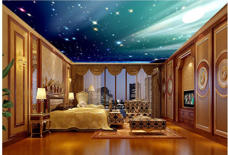 Wallpaper Mural Photo Wallpaper Starlight Sky Ceiling Murals Non Woven Ceilings Murals Wallpaper