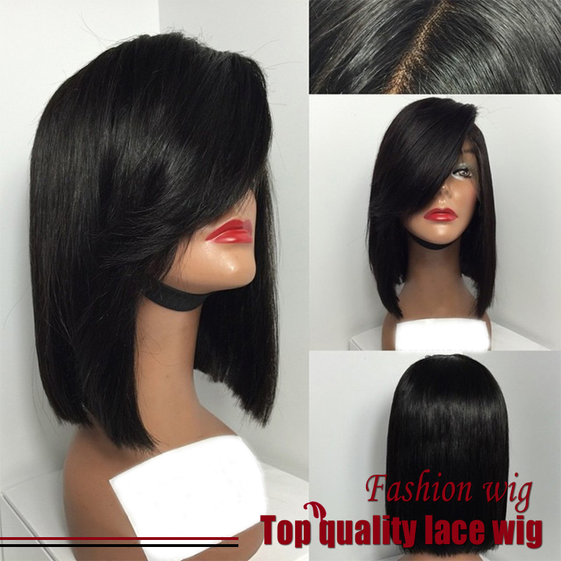 cheap new fashion straight bob wigs synthetic lace front