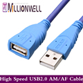 Millionwell Fashion Blue 3M 5M 2 0 USB Extension Cable Male A to Female A USB