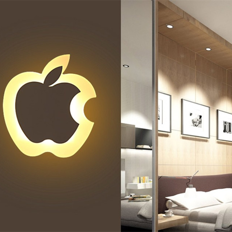 Apple shaped lamp / creative / Nordic corridors of modern living room bedroom bedside lamp LED lighting Free shipping(China (Mainland))