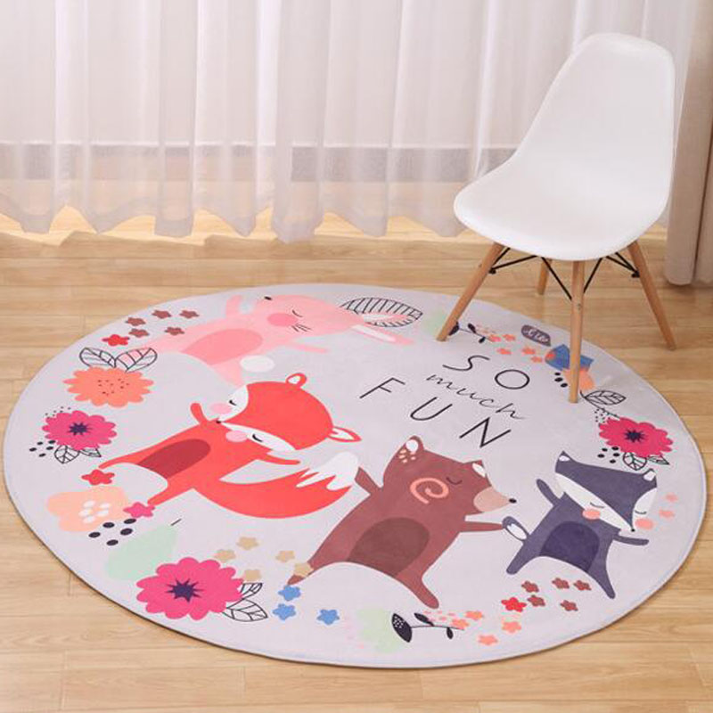 2016 hot cartoon animal kid game mat non slip baby for Baby bedroom decoration games